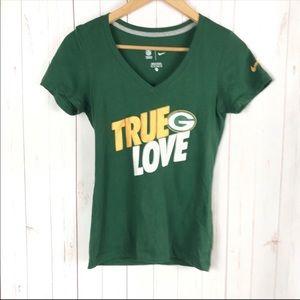 Nike NFL Green Bay Packers T-Shirt Size XS